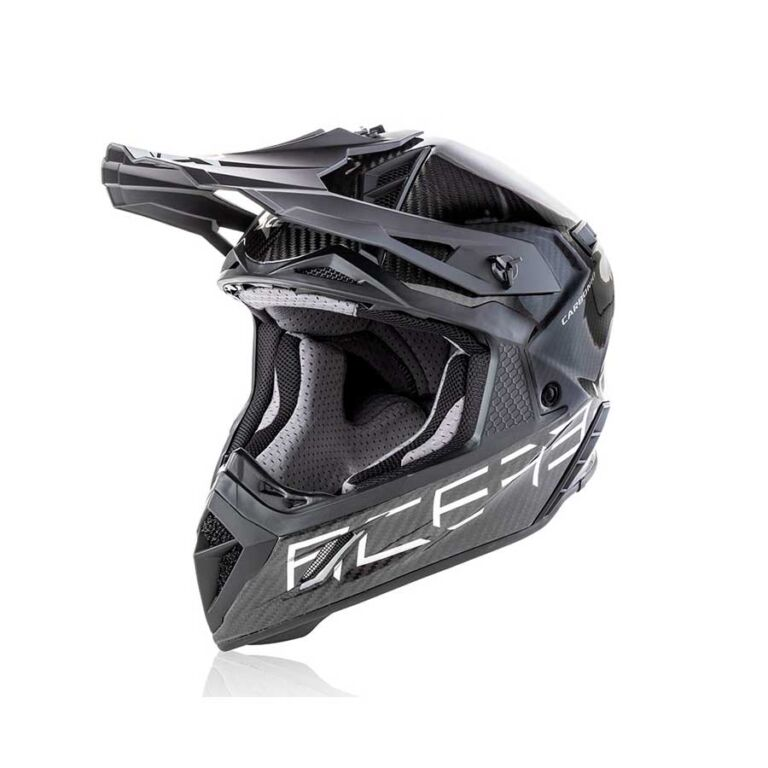 CASCO STEEL CARBON PLATEADO/NEGRO